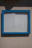 Empty information box on wall Stock Photos
