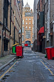 Empty inner city alleyway Royalty Free Stock Images