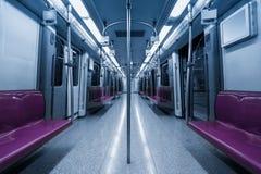 Empty inside subway car Royalty Free Stock Image