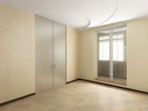 Empty interior. The image of a modern interior Royalty Free Stock Image