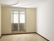 Empty interior. The image of a modern interior Royalty Free Stock Photo