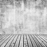 Empty interior background with white concrete wall royalty free stock image