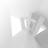 Empty interior with bent perspective. 3d. White abstract empty interior with bent perspective. 3d illustration Stock Photography