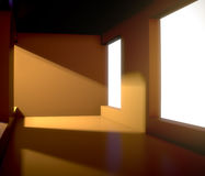 Empty interior with big window Royalty Free Stock Image