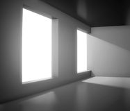 Empty interior with big window. 3d render of interior with big window Royalty Free Stock Photos