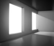 Empty interior with big window Royalty Free Stock Photos