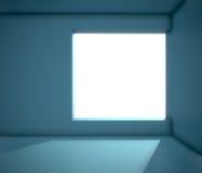 Empty interior with big window Royalty Free Stock Photo