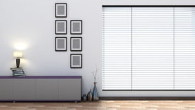 Empty interior with blinds Stock Images