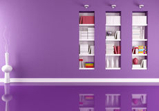 Empty interior with bookcase Royalty Free Stock Images