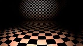Empty interior with checkered metallic floor Royalty Free Stock Photo
