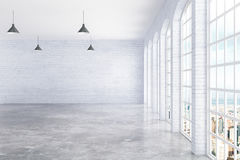 Empty interior with city view Royalty Free Stock Images