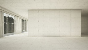Empty interior. Concrete frontal Stock Images