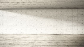 Empty interior. Concrete frontal Stock Photography