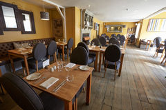 Empty Interior Of Contemporary Restaurant Stock Photo
