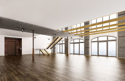 Empty interior 3d rendering Royalty Free Stock Images