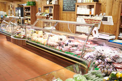 Empty Interior Of Delicatessen Stock Image