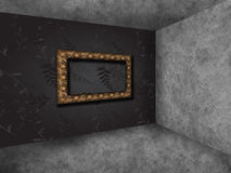 Empty interior with empty frame Royalty Free Stock Photography