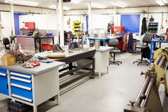 Empty Interior Of Engineering Workshop Stock Photo