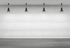 Empty interior with four lamps Stock Images