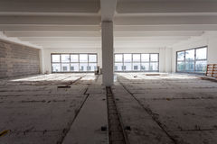 Empty interior of industrial hall Stock Images