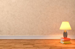 Empty interior with lamp included. 3d illustration Stock Image