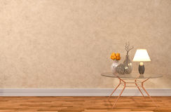 Empty interior with lamp included. 3d illustration Royalty Free Stock Photography