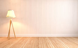 Empty interior with lamp included. 3d illustration Stock Photo