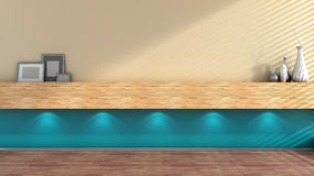 Empty interior with lamp and shelf Royalty Free Stock Photos