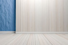 Empty interior light blue room with wooden floor, For display of Royalty Free Stock Image