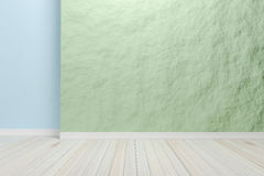 Empty interior light blue room with wooden floor, For display of Royalty Free Stock Photography