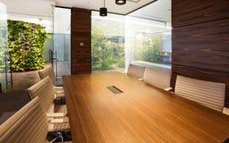 Empty Interior Of Modern Design Office. A modern office.studio shot stock photo