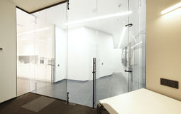 Empty Interior Of Modern Design Office. A modern office.studio shot Royalty Free Stock Photography