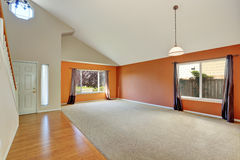 Empty interior of a new cute, clean house stock photography