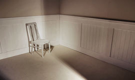 Empty interior with chair against wall Royalty Free Stock Image