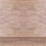 Empty interior perspective with brick tile wall Stock Photo