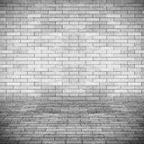Empty interior perspective with brick tile wall Stock Images