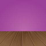 Empty interior for projects. Wooden structure. Vector illustration Stock Image