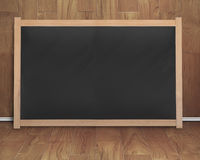 Empty interior room with black blank chalkboard Stock Photo