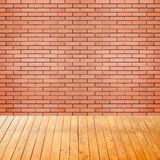 Empty interior room with brick wall background Royalty Free Stock Photos