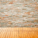 Empty interior room with rock wall background Royalty Free Stock Images