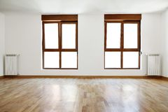 Empty interior room and windows Royalty Free Stock Images