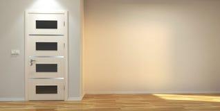Empty interior scene with door Stock Images