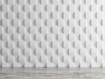 Empty interior space wall background, 3d illustration Stock Images