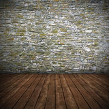 Empty interior with stone wall Royalty Free Stock Photo