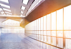 Empty interior with sunlight Royalty Free Stock Photos