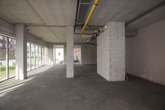 Empty interior of an unfinished building Royalty Free Stock Photos