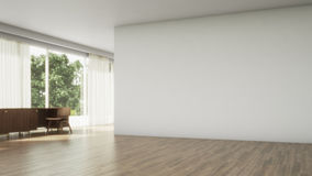 Empty interior. wood floor 3d render Royalty Free Stock Images