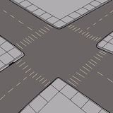 Empty Intersection Background Stock Images