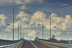 Empty interstate road Royalty Free Stock Photo
