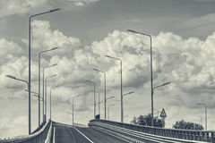 Empty interstate road Royalty Free Stock Image